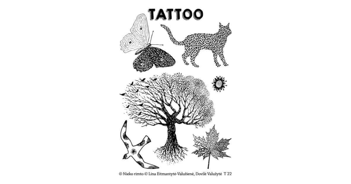 T22. Laikinos tatuiruotės su Linos Eitmantytės-Valužienės piešiniais