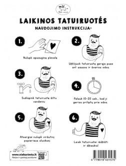 T24. Laikinos tatuiruotės su Tanios Rex piešiniais
